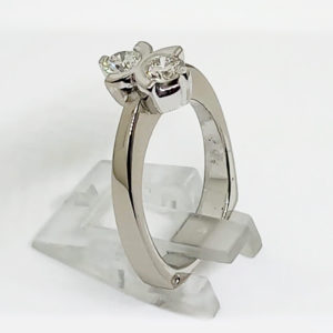 Double Solitaire Ring White-Gold