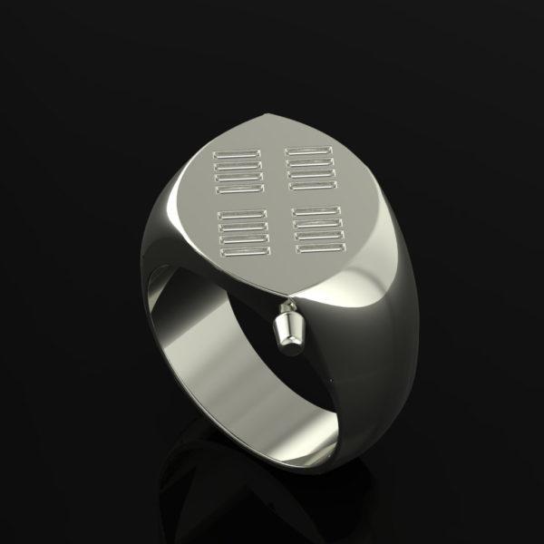 Zulu Signet Ring Platinum