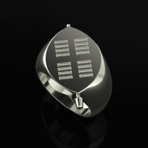 Zulu Signet Ring White-Gold