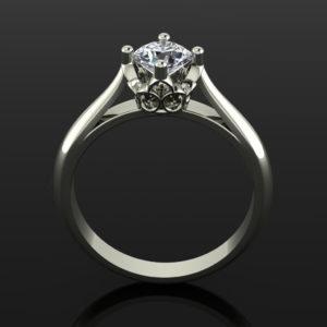 Cherry Ring White-Gold