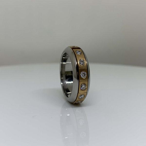 Diamond Twirl Puzzle-Ring