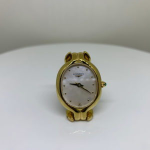 Longines - Vintage Ladies Oval Gold-Plated