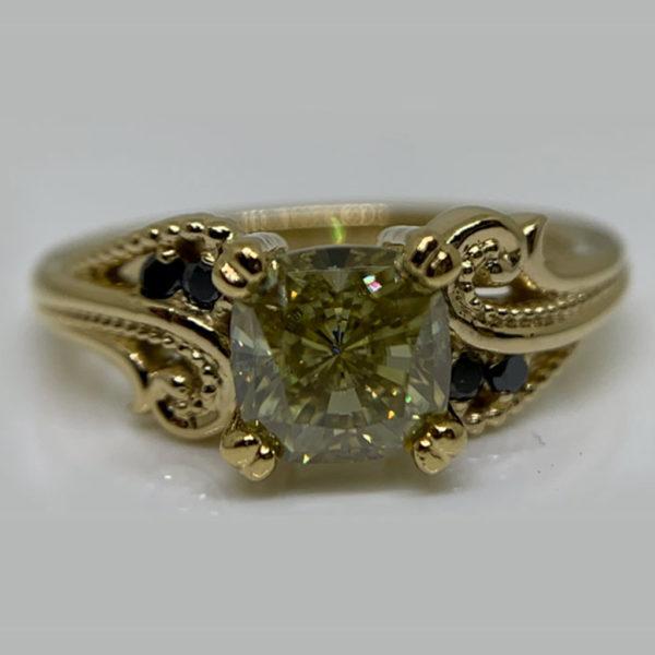 Fancy Filigree Ring 18ct-Gold