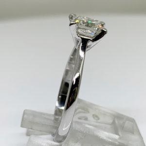 1ct Princess Cut Diamond Solitaire Ring Platinum