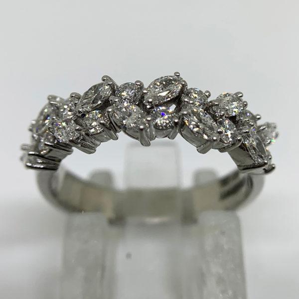 Half Eternity Ring Platinum