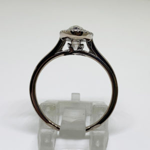 Marquise Halo Diamond Ring 18ct-White-Gold