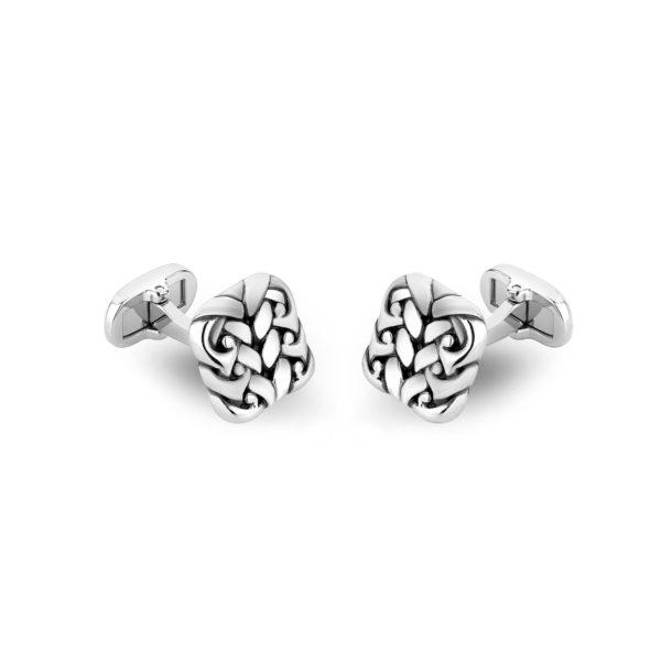 Stainless steel detailed cufflinks ARZ-Steel