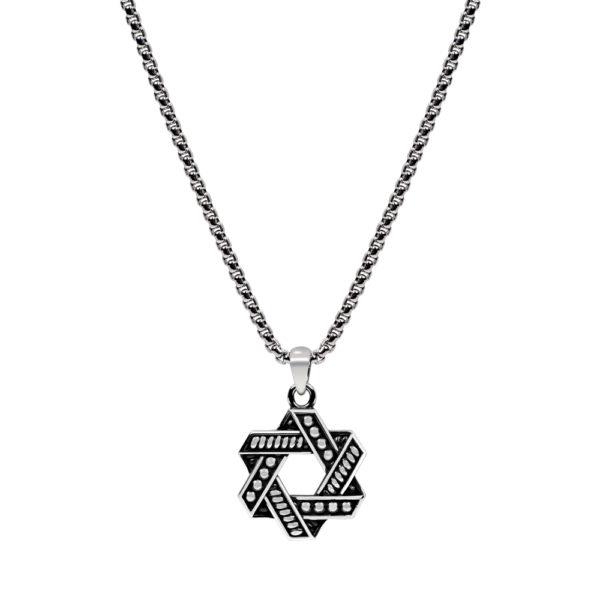 Star of David Pendant Chain ARZ-Steel