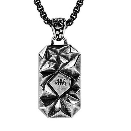 Steel falcon Pendant w/Chain ARZ-Steel