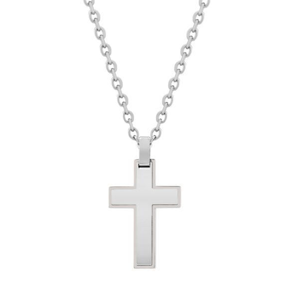 Steel cross Pendant, w/Chain ARZ-Steel