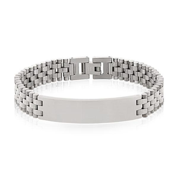 Black steel ID Bracelet ARZ-Steel