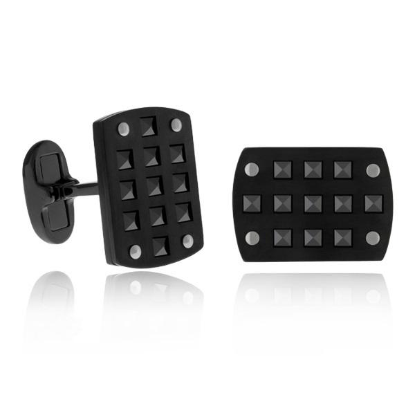 Steel black ceramic cuffs ARZ-Steel