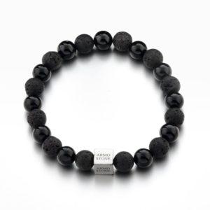 Black Lava and Black Onyx Stones Armo-Stone