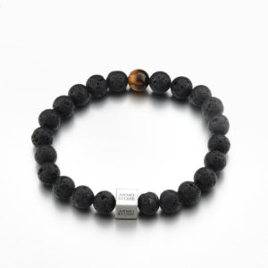1 Tigers Eye and Lava Stones Armo-Stone