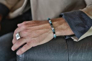 Blue and Grey Agate, with Onyx Stones armo-stone