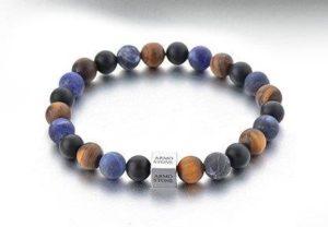 Matt Tigers Eye, with Onyx and Sodalite Stones Armo-Stone