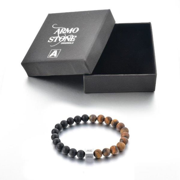 Matt Tigers Eye and Onyx stones Armo-Stone
